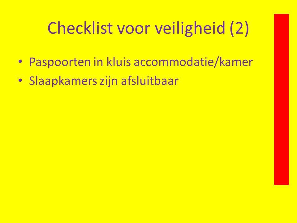 Checklist voor veiligheid (2)