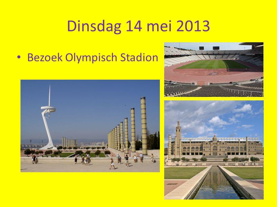 Dinsdag 14 mei 2013 Bezoek Olympisch Stadion