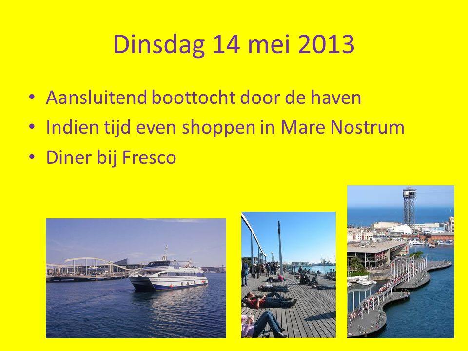 Dinsdag 14 mei 2013 Aansluitend boottocht door de haven