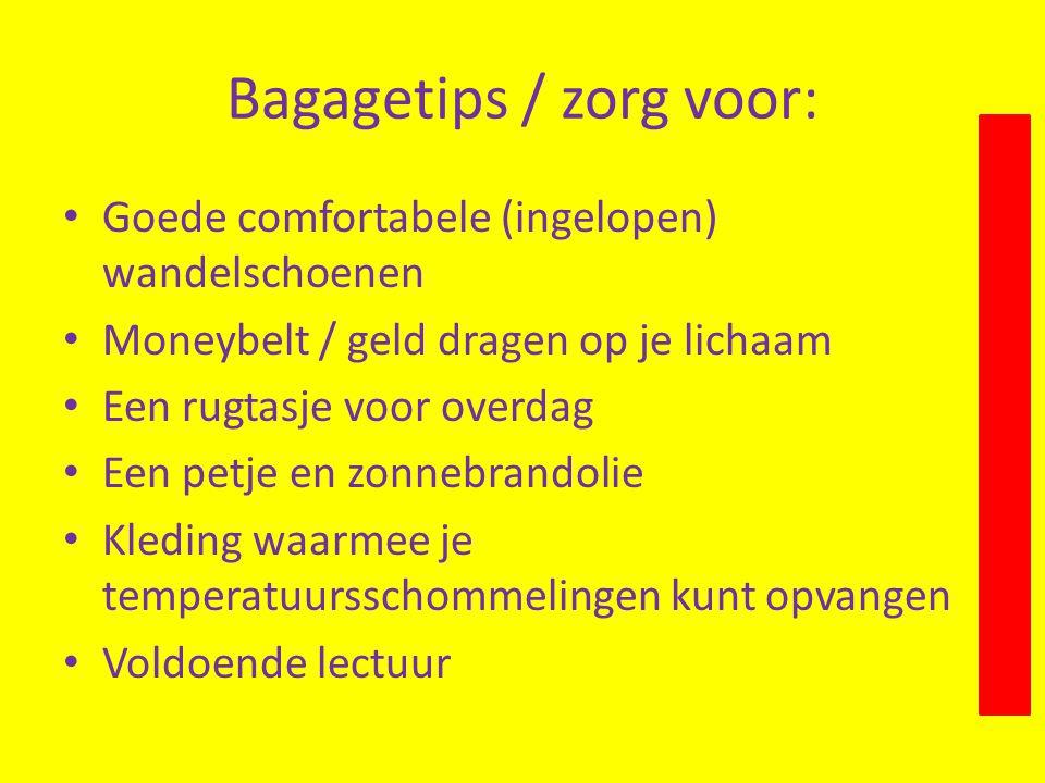 Bagagetips / zorg voor: