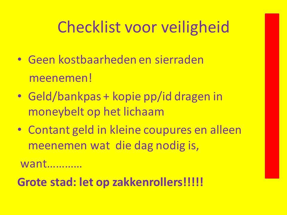 Checklist voor veiligheid