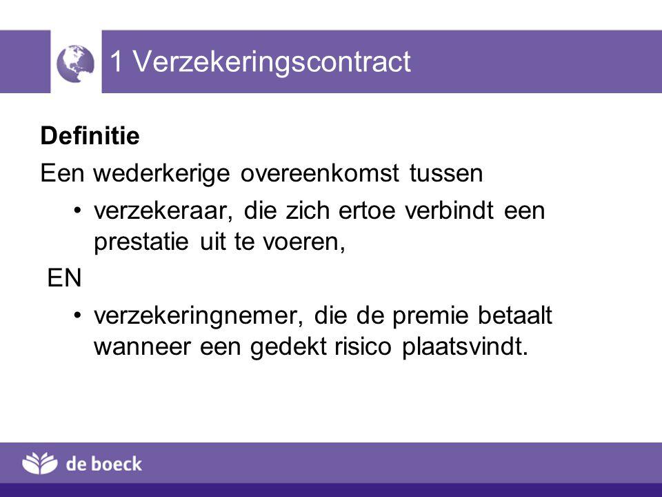 1 Verzekeringscontract