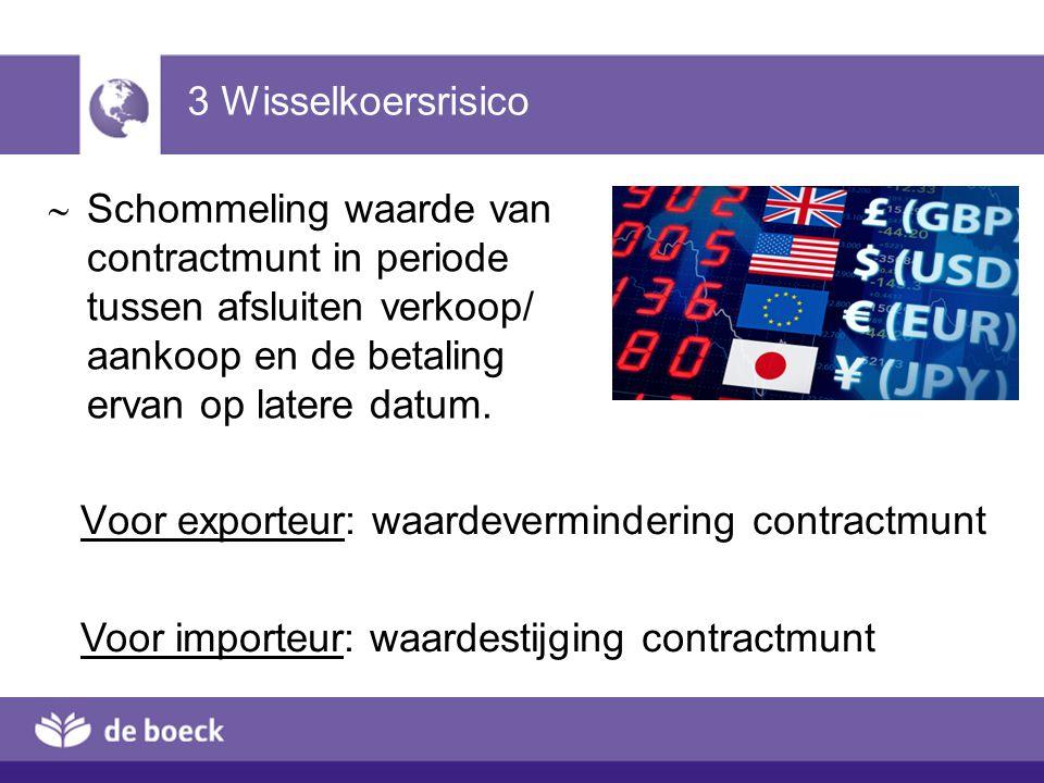 Voor exporteur: waardevermindering contractmunt