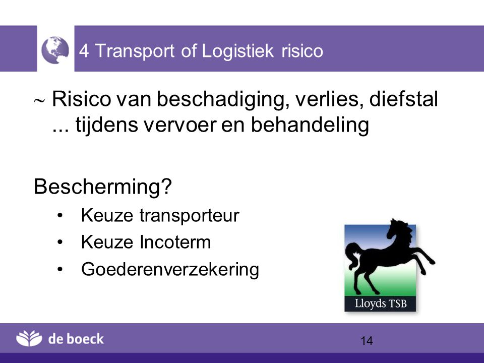 4 Transport of Logistiek risico