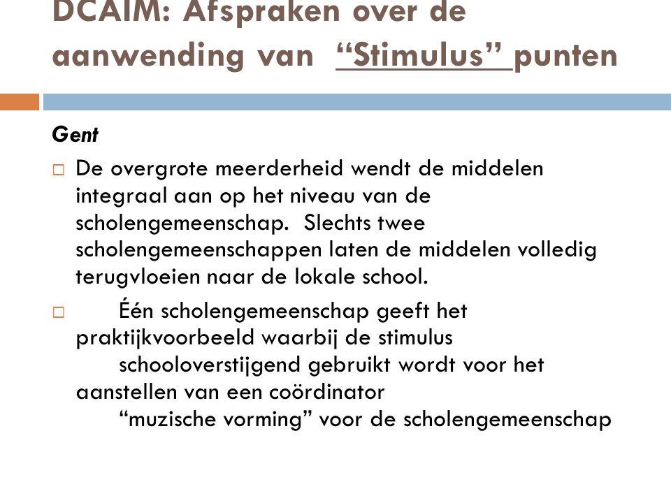 DCAIM: Afspraken over de aanwending van Stimulus punten