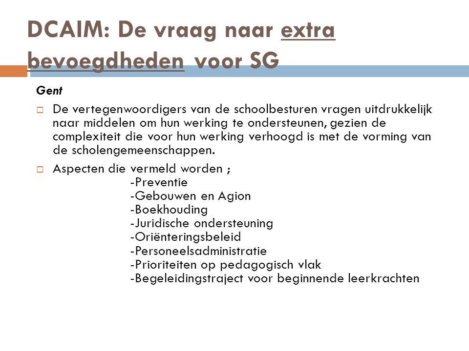 DCAIM: De vraag naar extra bevoegdheden voor SG