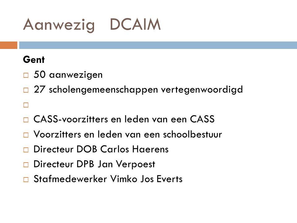 Aanwezig DCAIM Gent 50 aanwezigen