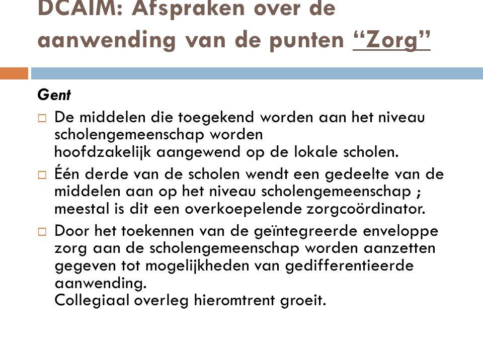 DCAIM: Afspraken over de aanwending van de punten Zorg