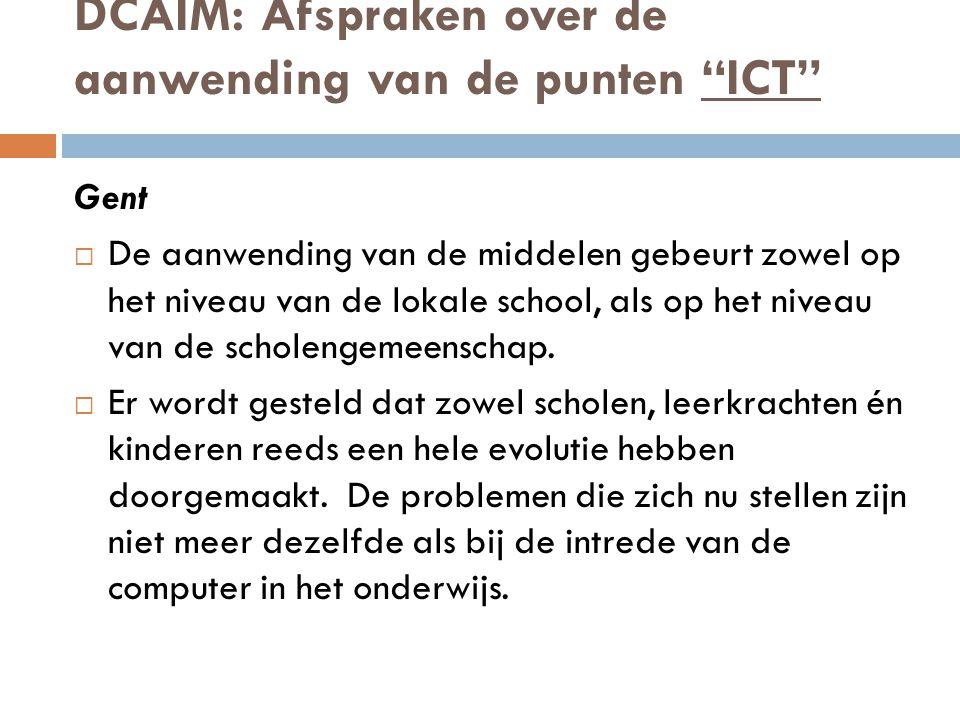 DCAIM: Afspraken over de aanwending van de punten ICT