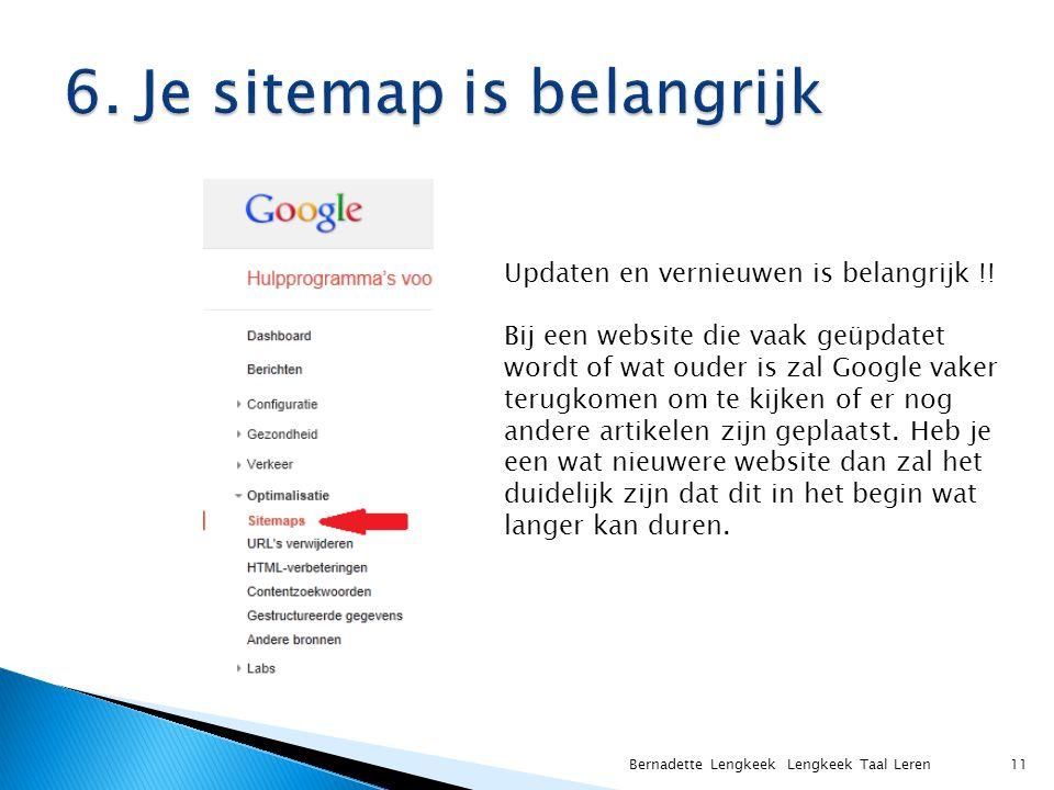 6. Je sitemap is belangrijk