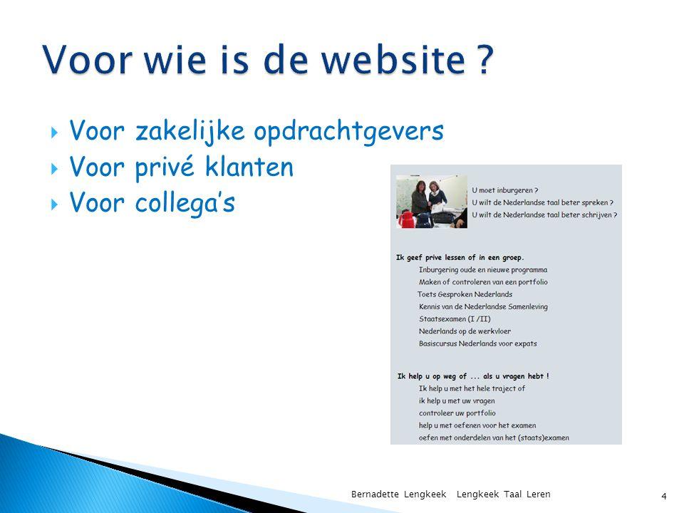 Voor wie is de website Voor zakelijke opdrachtgevers