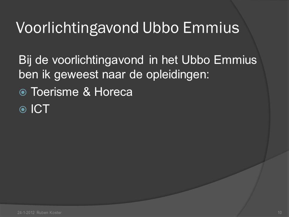 Voorlichtingavond Ubbo Emmius