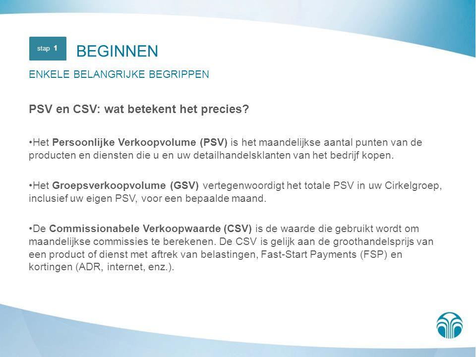 BEGINNEN PSV en CSV: wat betekent het precies