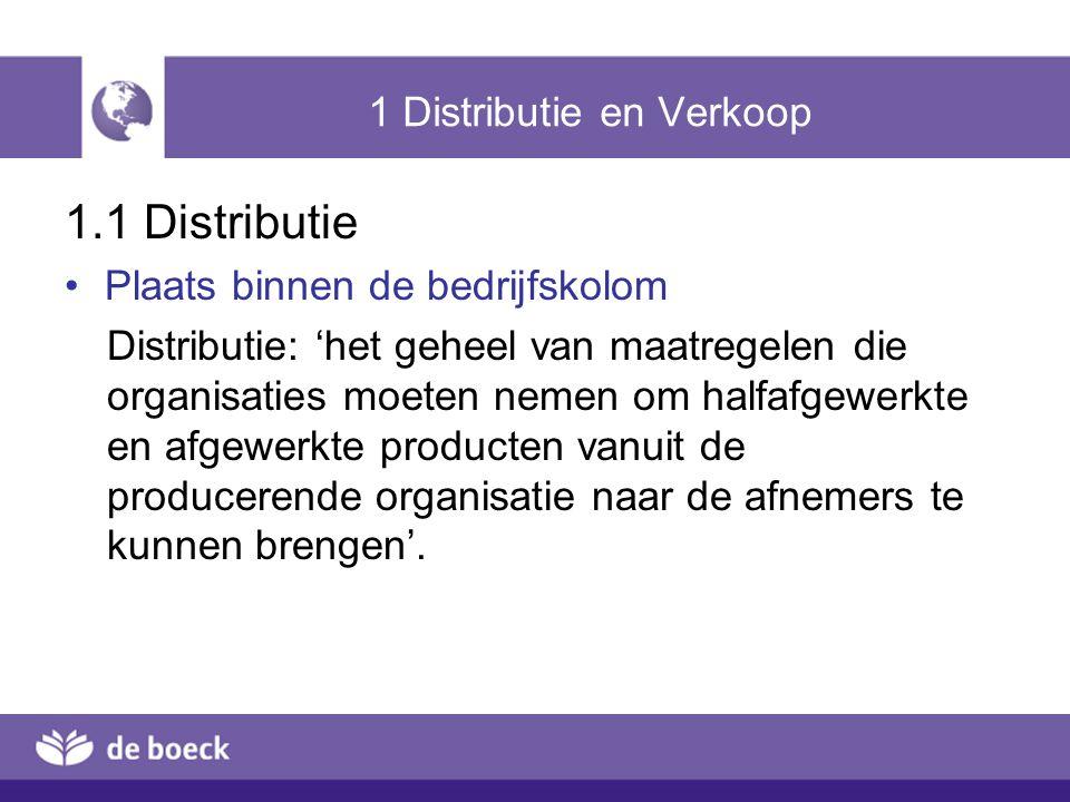1 Distributie en Verkoop