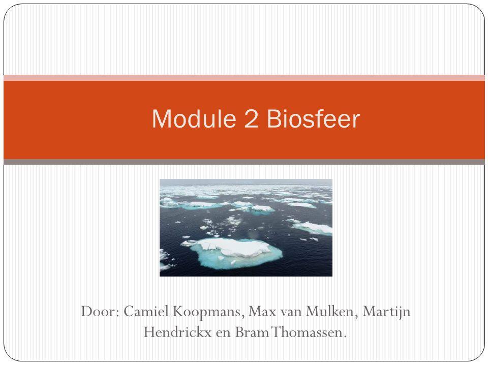 Module 2 Biosfeer Door: Camiel Koopmans, Max van Mulken, Martijn Hendrickx en Bram Thomassen.