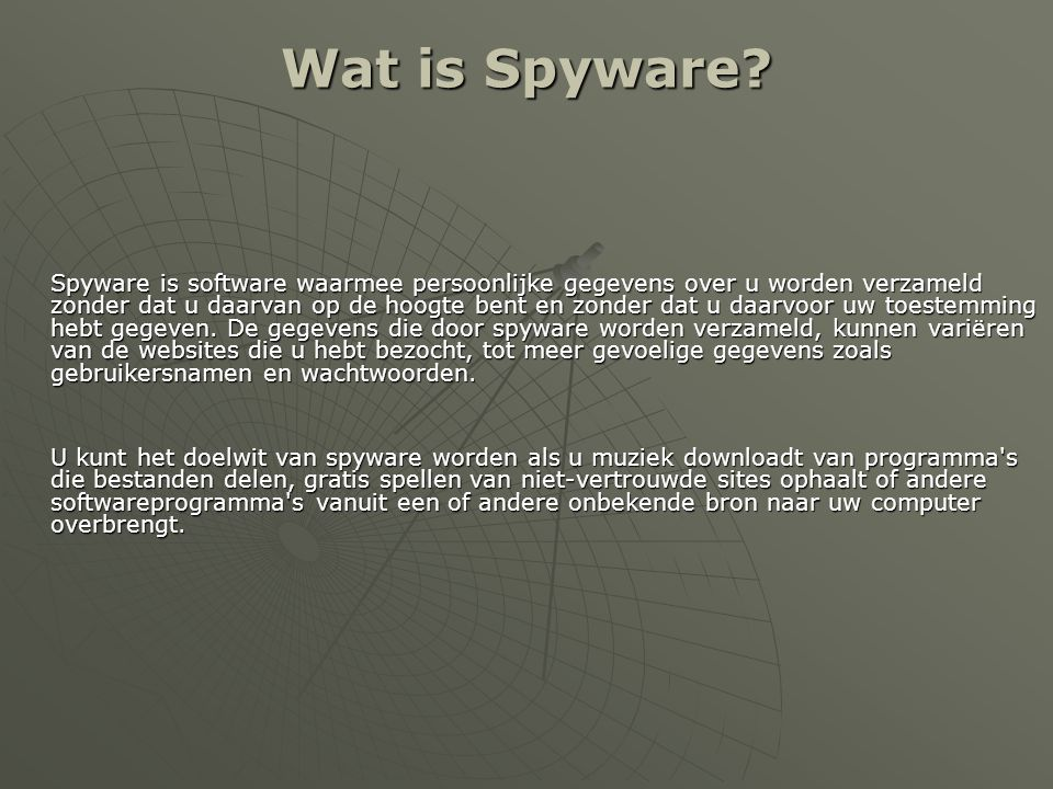 Wat is Spyware