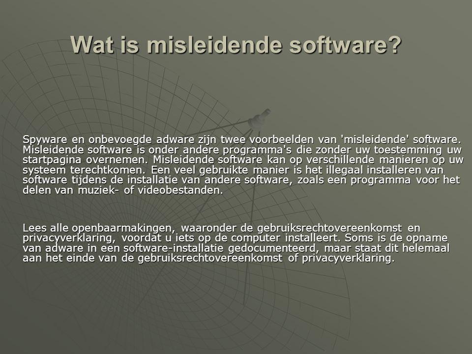 Wat is misleidende software