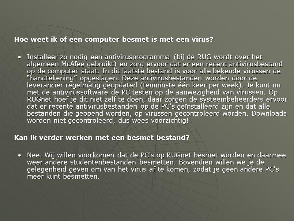Hoe weet ik of een computer besmet is met een virus