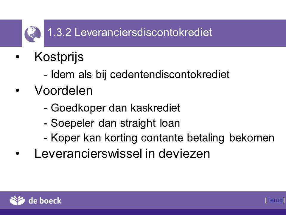 1.3.2 Leveranciersdiscontokrediet