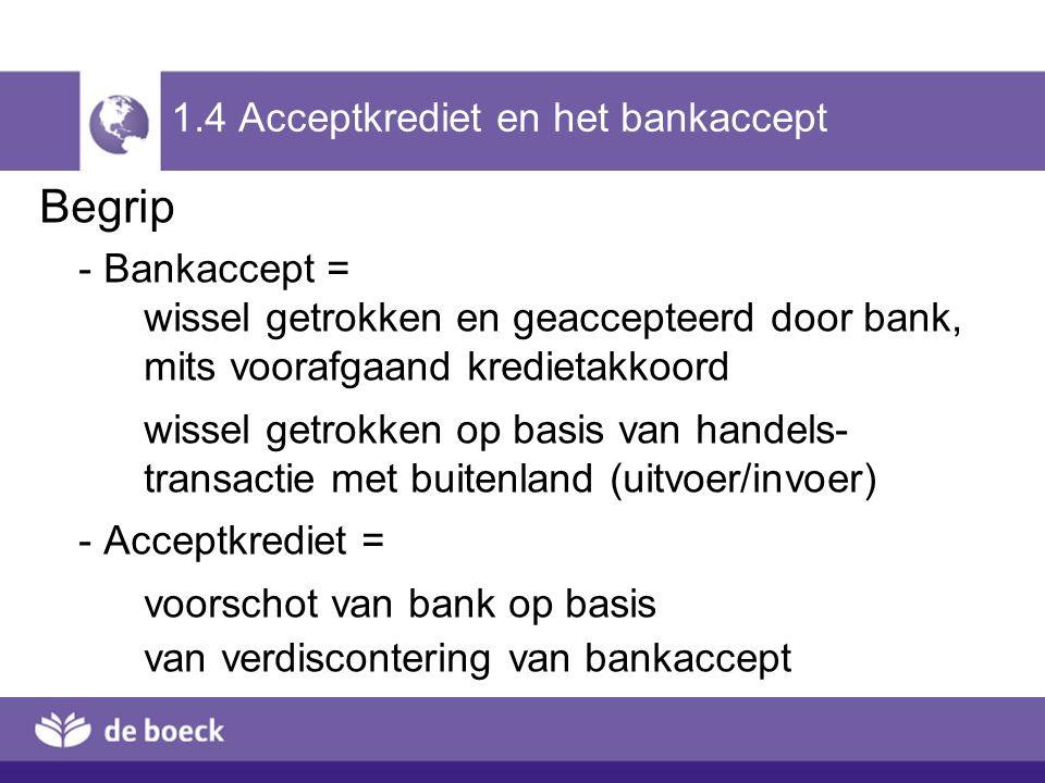 1.4 Acceptkrediet en het bankaccept