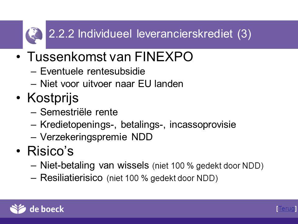 2.2.2 Individueel leverancierskrediet (3)