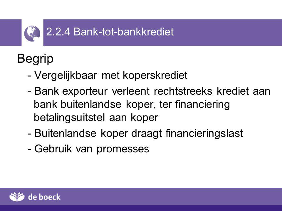 2.2.4 Bank-tot-bankkrediet