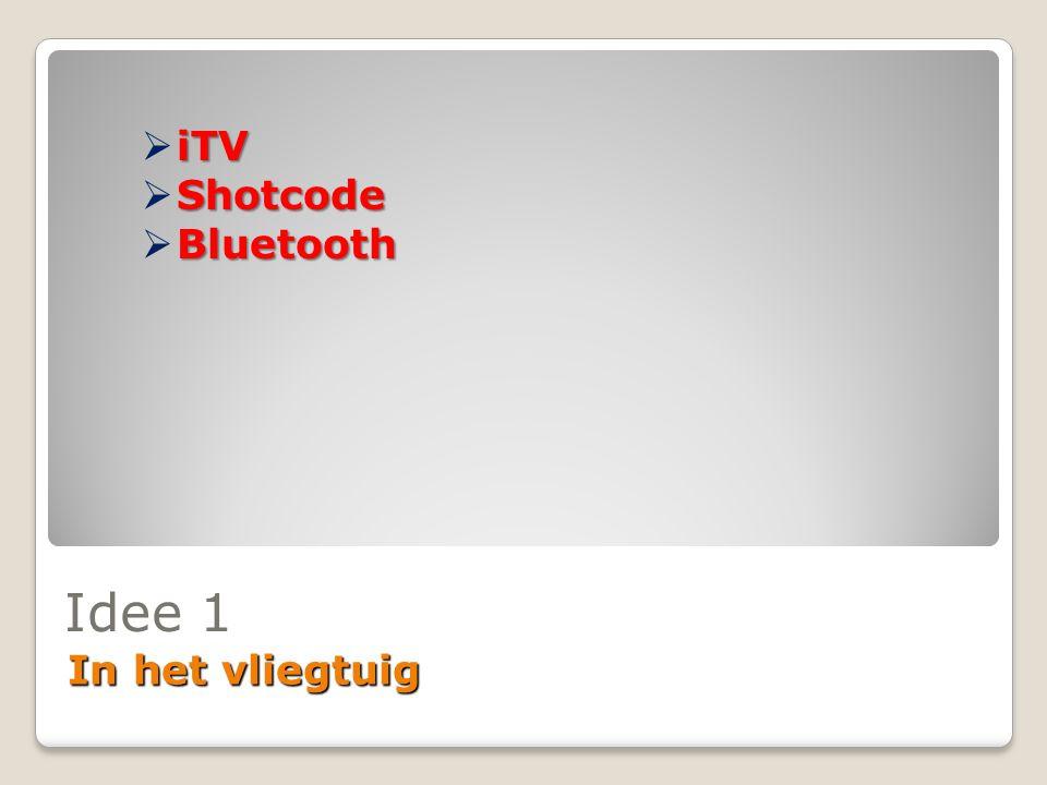 iTV Shotcode Bluetooth Idee 1 In het vliegtuig