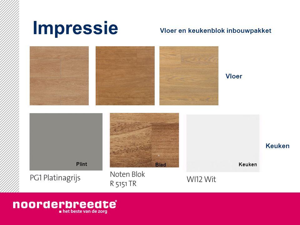 Impressie Vloer en keukenblok inbouwpakket Vloer Keuken Plint Blad