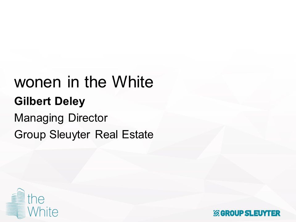 wonen in the White Gilbert Deley Managing Director