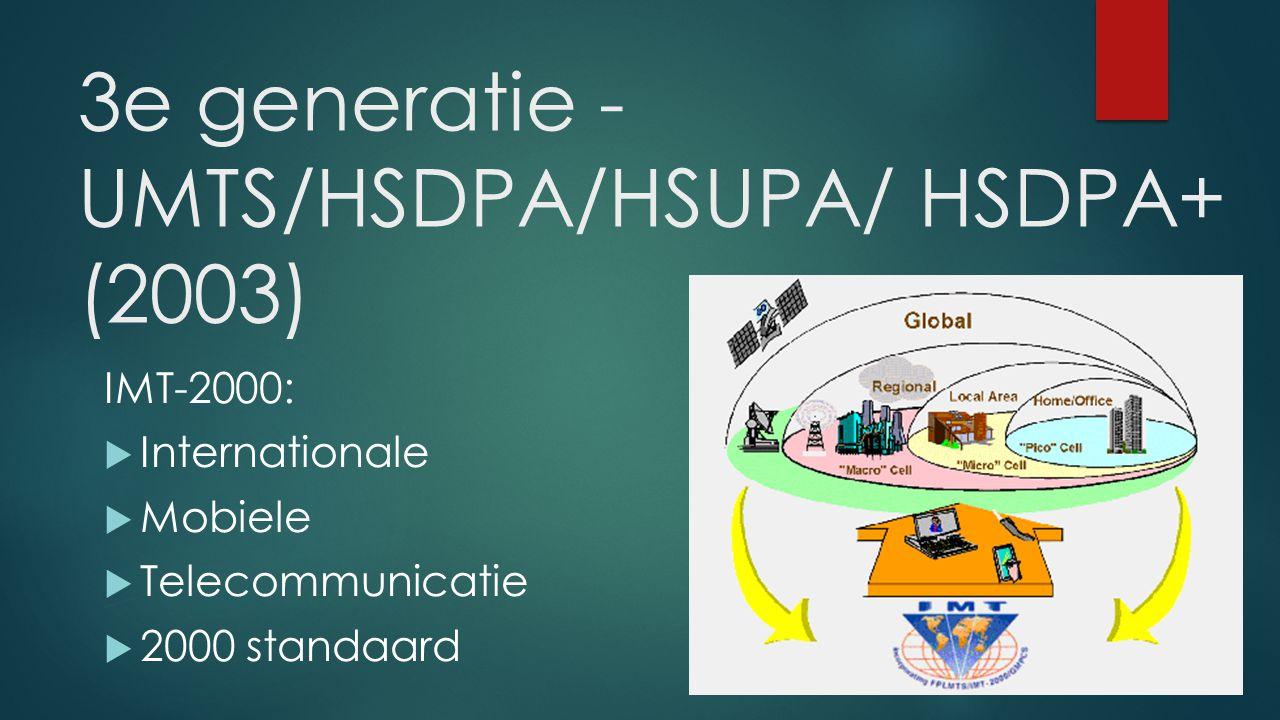 3e generatie - UMTS/HSDPA/HSUPA/ HSDPA+ (2003)