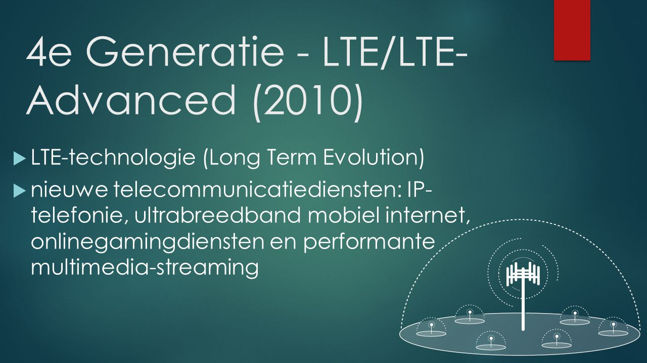 4e Generatie - LTE/LTE-Advanced (2010)