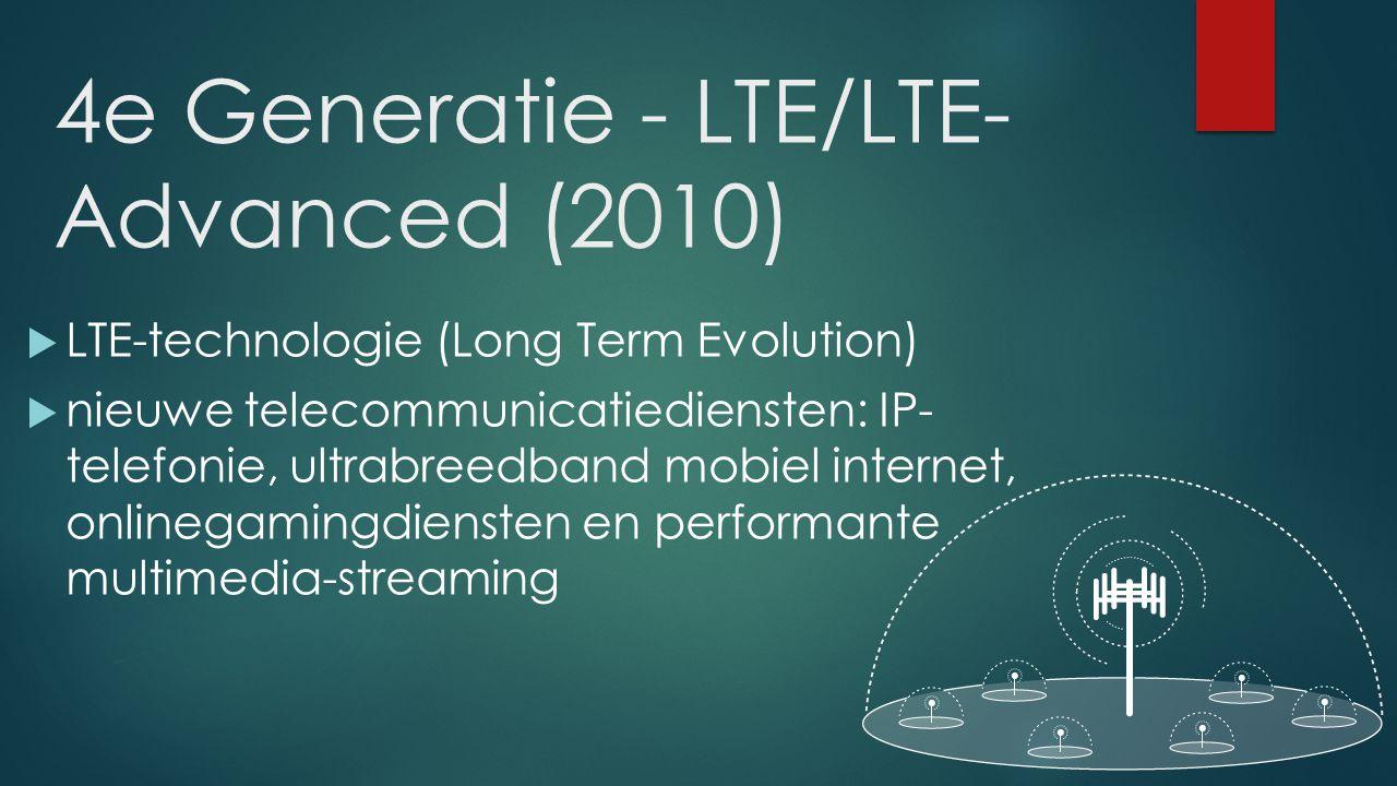4e Generatie - LTE/LTE-Advanced (2010)
