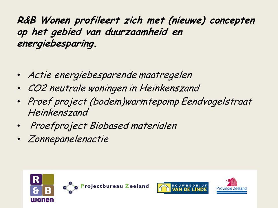 R&B Wonen profileert zich met (nieuwe) concepten op het gebied van duurzaamheid en energiebesparing.