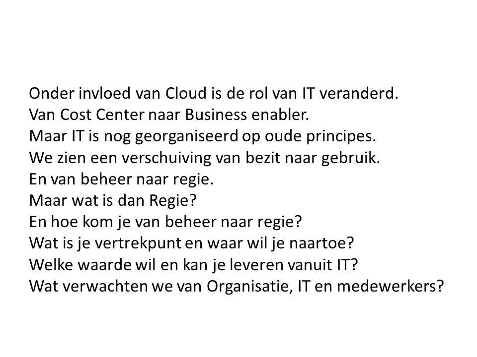 Onder invloed van Cloud is de rol van IT veranderd