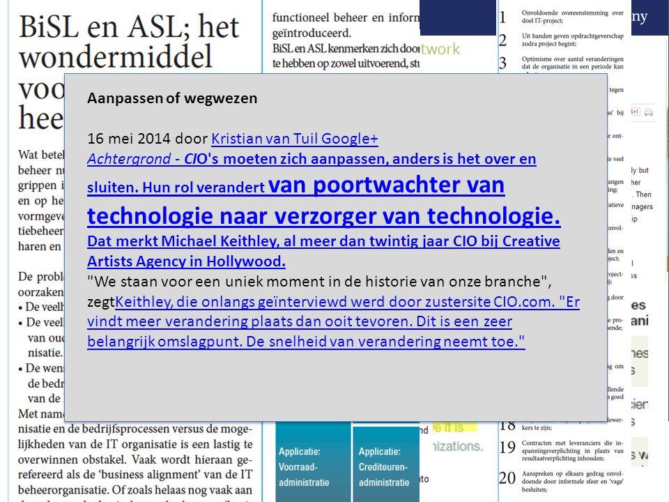 Aanpassen of wegwezen 16 mei 2014 door Kristian van Tuil Google+