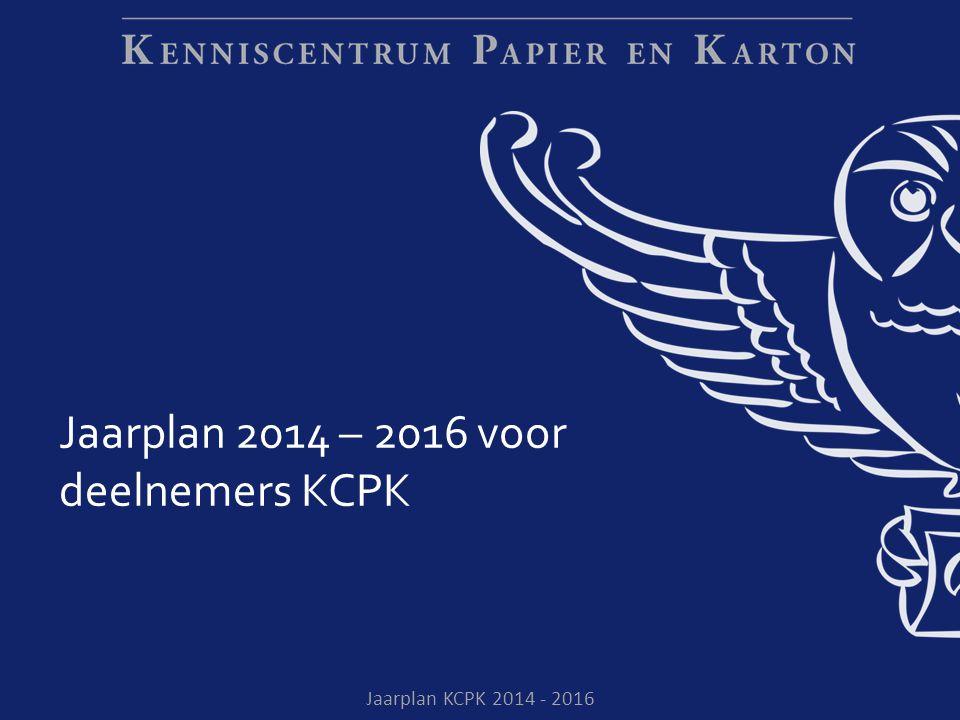 Jaarplan 2014 – 2016 voor deelnemers KCPK