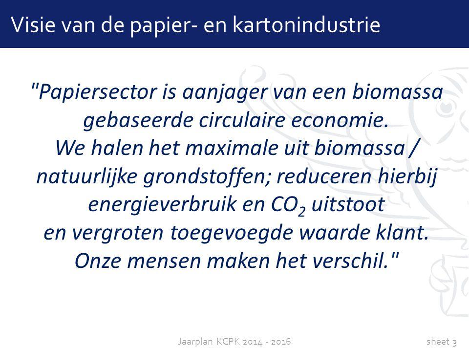 Visie van de papier- en kartonindustrie