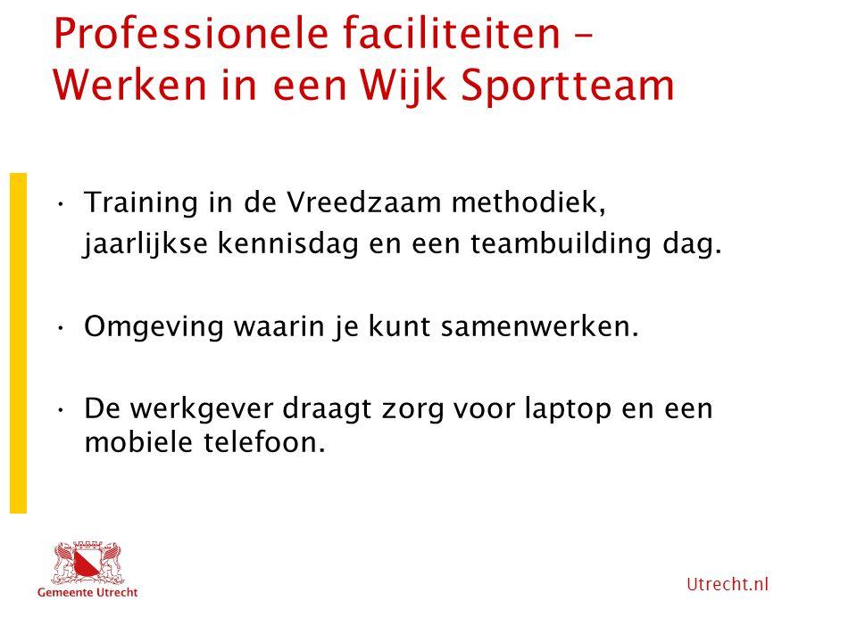 Professionele faciliteiten – Werken in een Wijk Sportteam