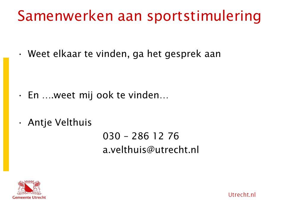 Samenwerken aan sportstimulering