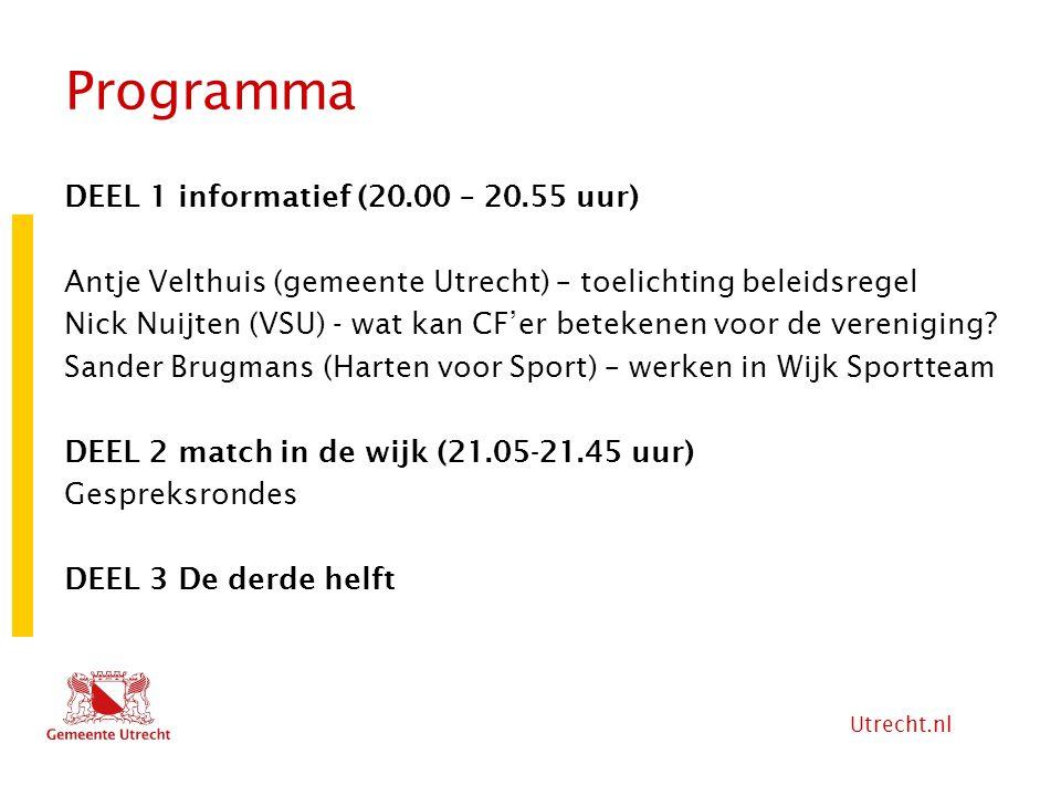 Programma DEEL 1 informatief (20.00 – 20.55 uur)