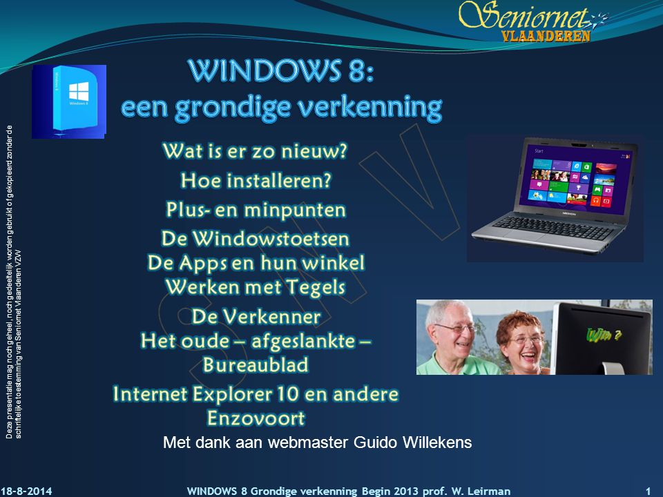 WINDOWS 8: een grondige verkenning