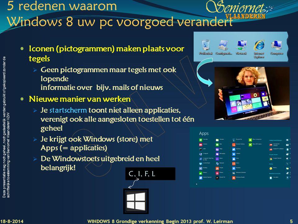 5 redenen waarom Windows 8 uw pc voorgoed verandert