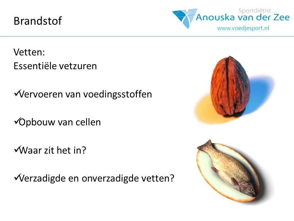 Brandstof Vetten: Essentiële vetzuren Vervoeren van voedingsstoffen