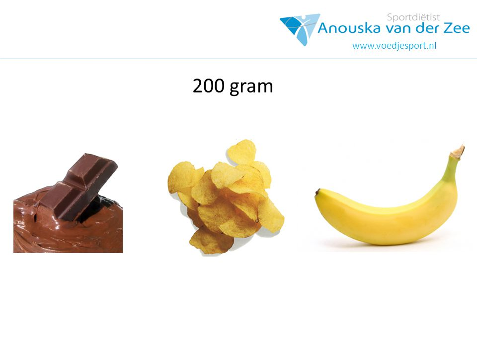 hOOFDSTUK www.voedjesport.nl 200 gram