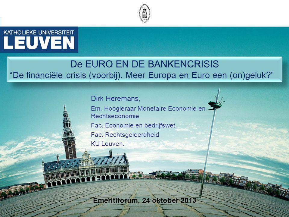 De EURO EN DE BANKENCRISIS