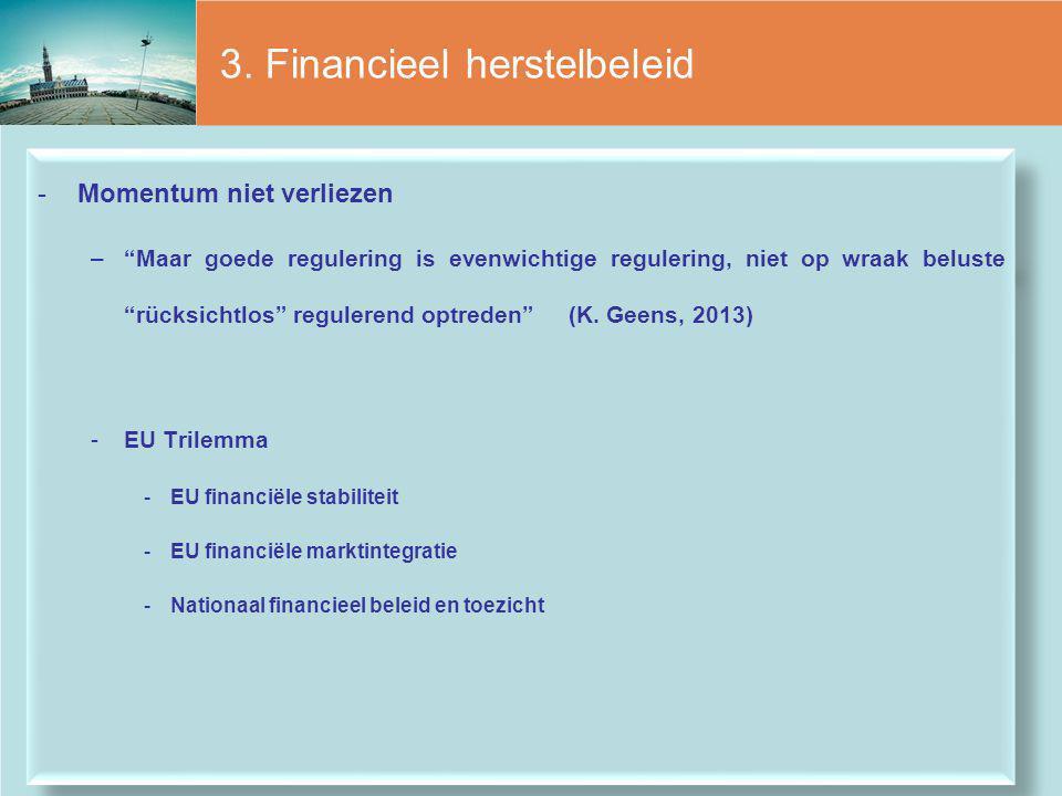 3. Financieel herstelbeleid