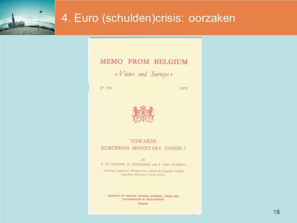 4. Euro (schulden)crisis: oorzaken