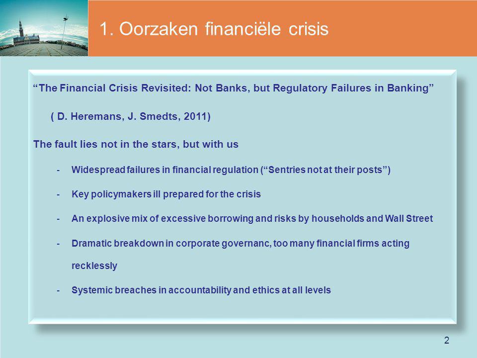 1. Oorzaken financiële crisis