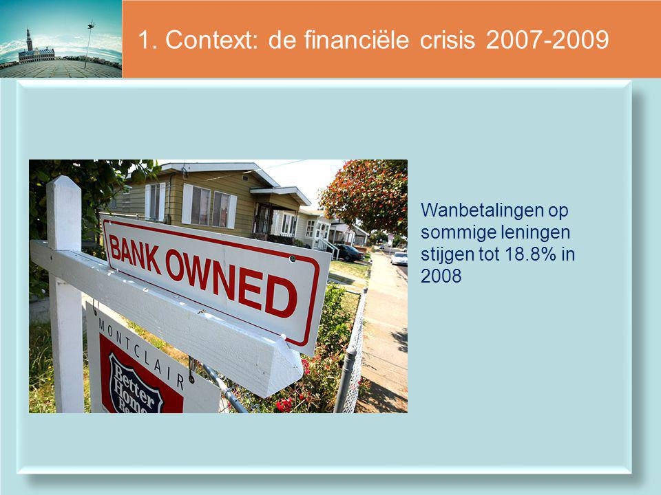 1. Context: de financiële crisis 2007-2009