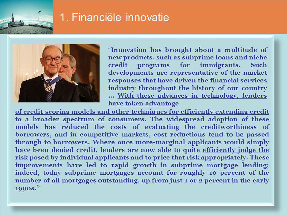 1. Financiële innovatie